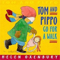 Tom and Pippo go for a Walk  (Board Book)