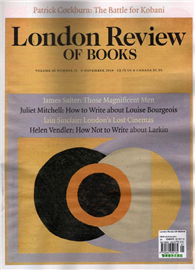 London Review OF BOOKS 1106/2014 第21期:James Salter: Those Magnificent Men