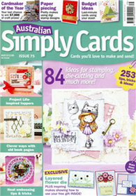 Australian Simply Cards 第75期:84 ideas for stamping
