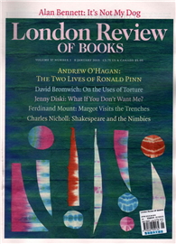 London Review OF BOOKS 0108/2015:The Two Lives of Ronald Pinn