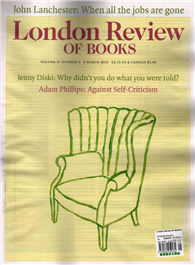 London Review OF BOOKS 0305/2015:Jenny Diski