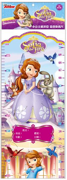 小公主苏菲亚 造型身高尺