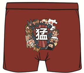 宝总监与秋田犬泥裤总裁.四角裤(红)