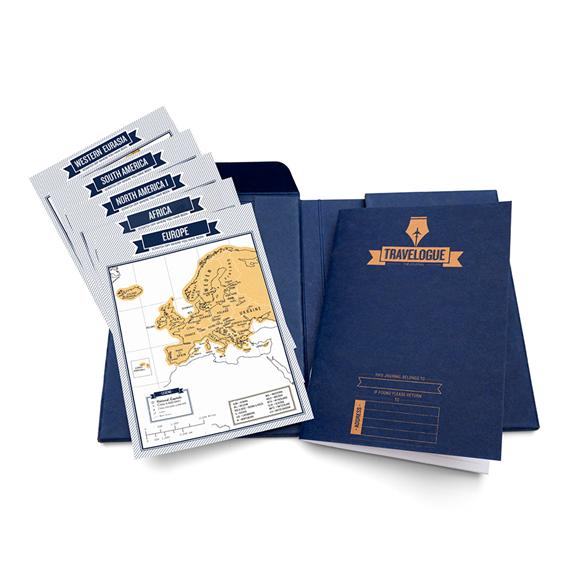 我的地圖刮刮樂 旅遊雜誌筆記本-藍色版【Luckies】