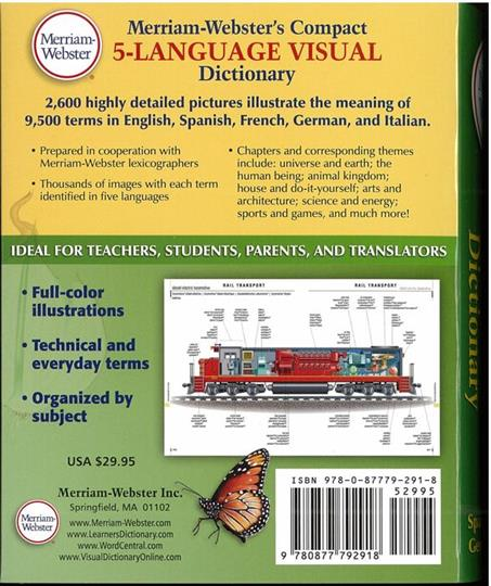 Merriam webster 39 s compact 5 language visual dictionary for Visual merriam webster
